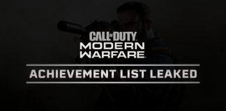 Modern Warfare Achievements