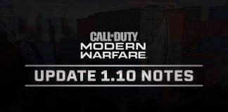 Modern Warfare Update 1.10 Patch Notes